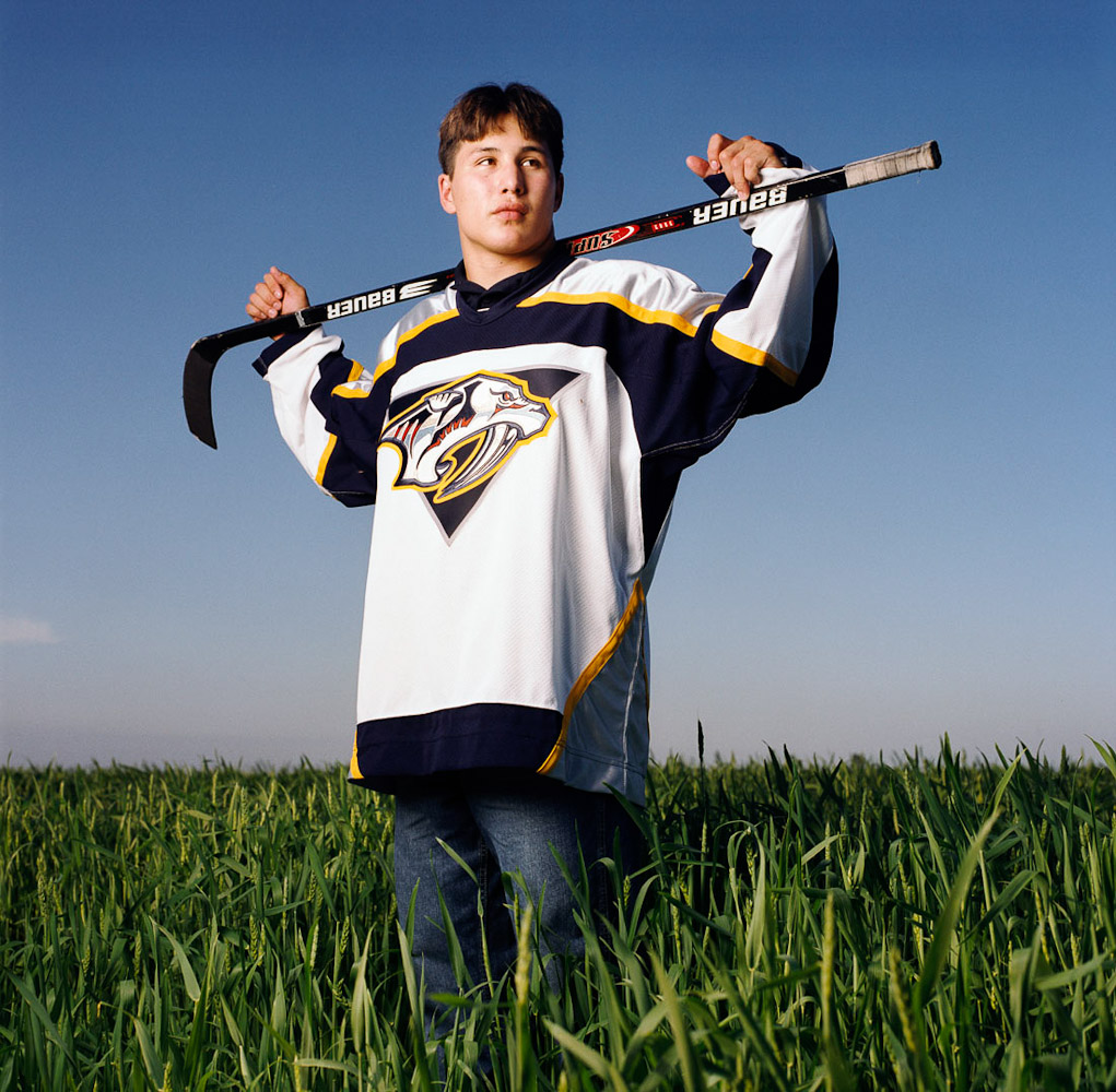 Jordan Tootoo by winnipeg editorial photographer