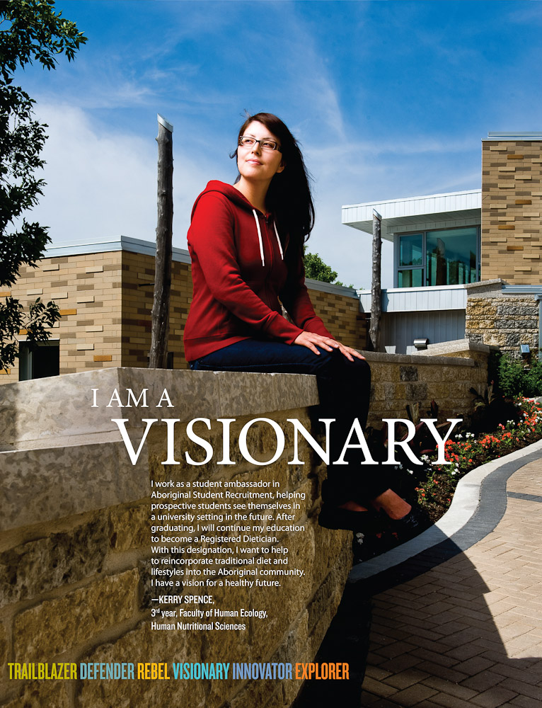 Aboriginal University ad by Winnipeg commercial photographer