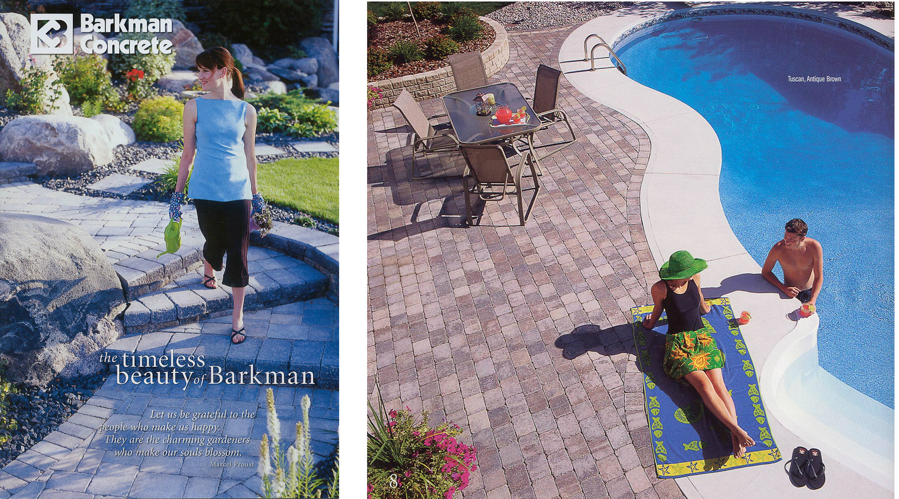 Paver stone ad by Winnipeg commercial photographer