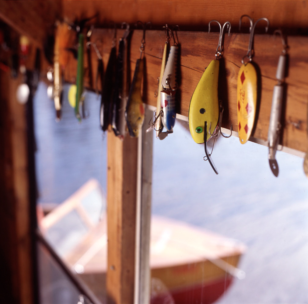 Fishing lures by Winnipeg editorial photographer