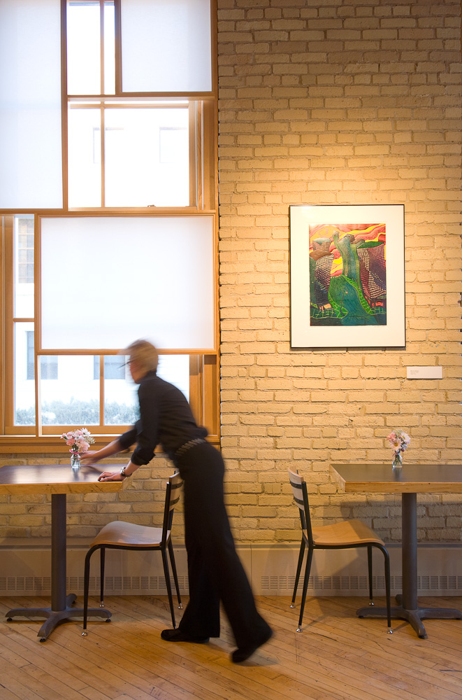 Museum cafe by Winnipeg architectural photographer