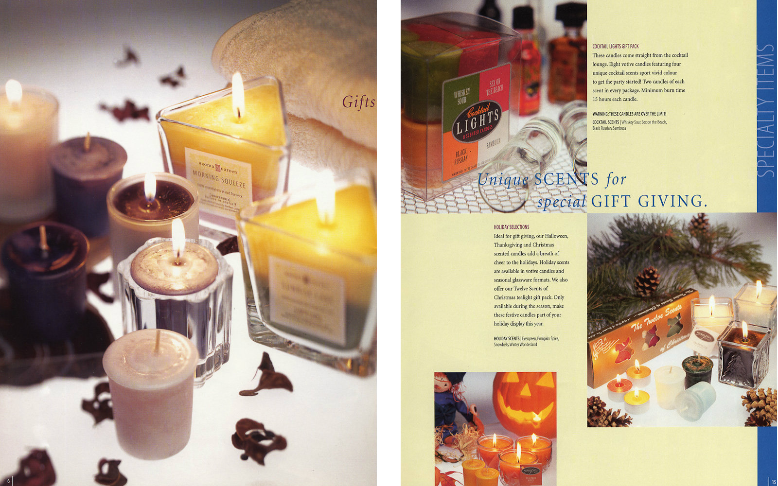 Candles ad by Winnipeg commercial photographer