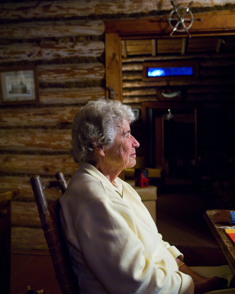 Cabin grandmother by Winnipeg editorial photographer