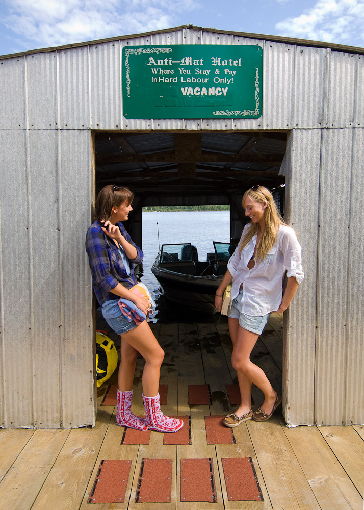 Boathouse women by Winnipeg editorial photographer