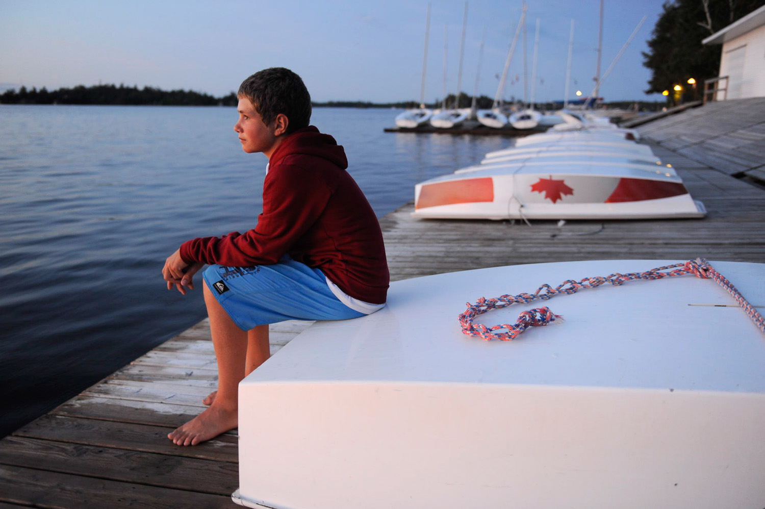Sailing boy by Winnipeg editorial photographer