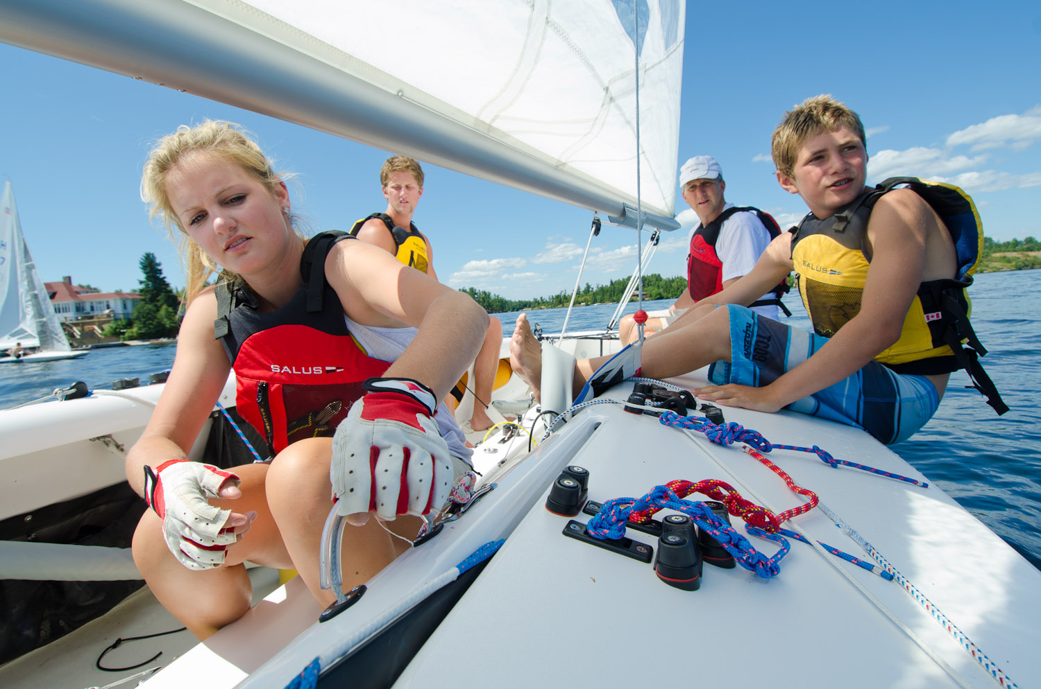 Sailing family by Winnipeg editorial photographer