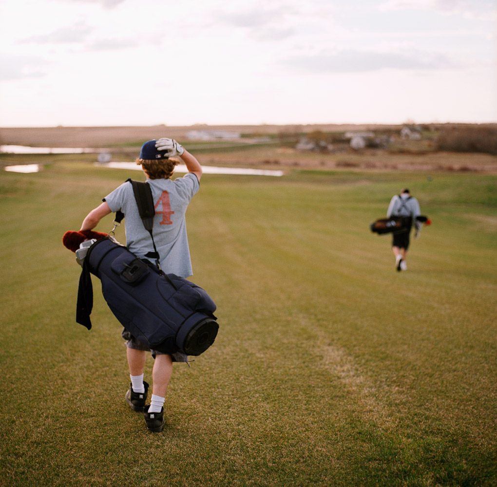 Golfers  by Winnipeg editorial photographer
