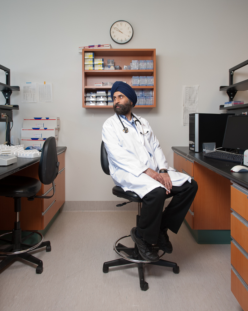 Dr. Harminder Singh by winnipeg editorial photographer