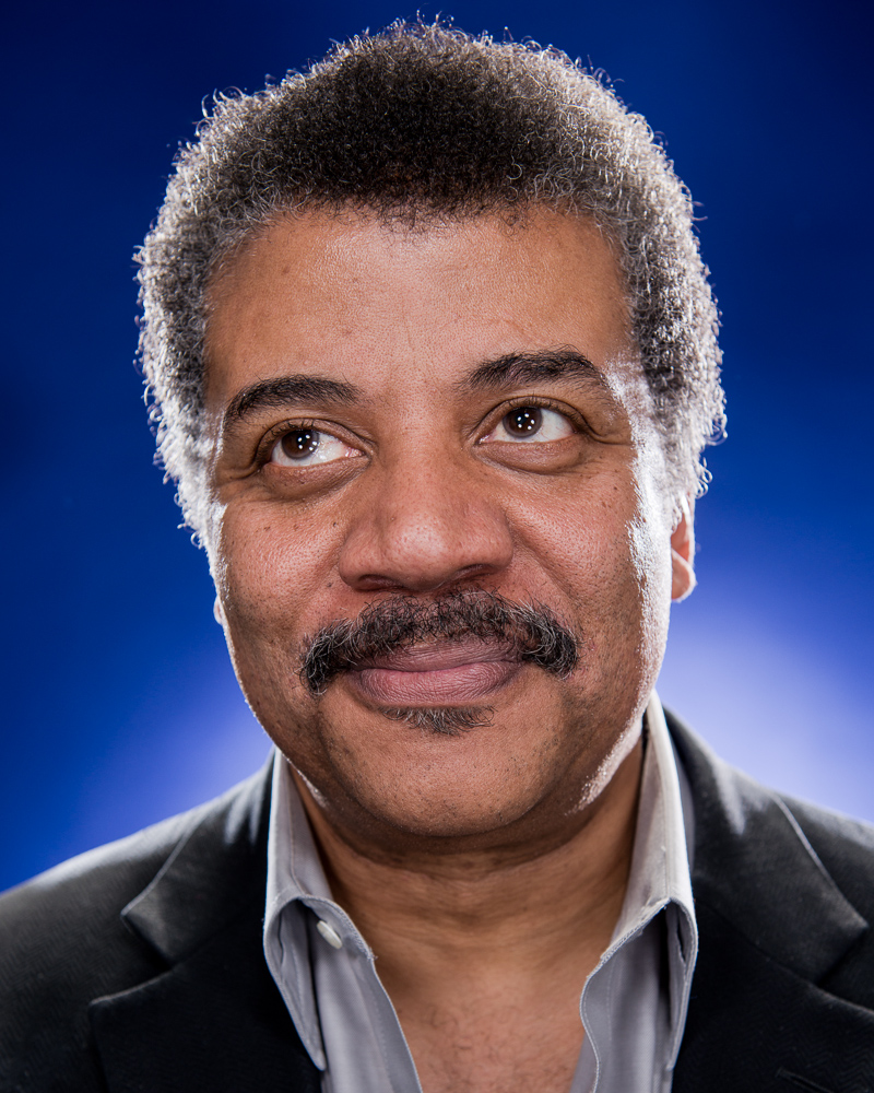 Neil deGrasse Tyson by Winnipeg editorial photographer.