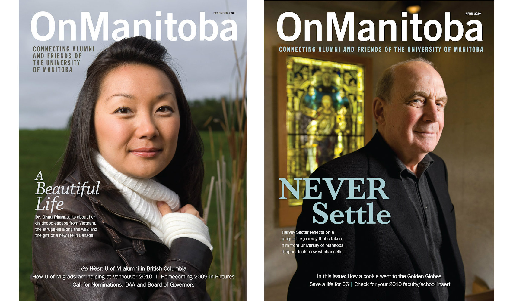 University covers by Winnipeg editorial photographer