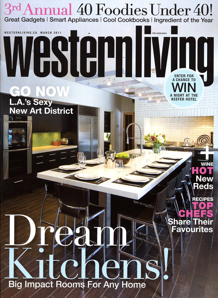Western Living cover by Winnipeg editorial photographer
