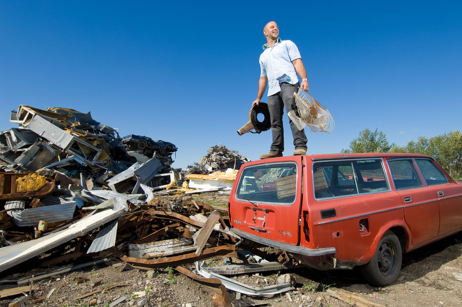 Garbage dump by winnipeg editorial photographer