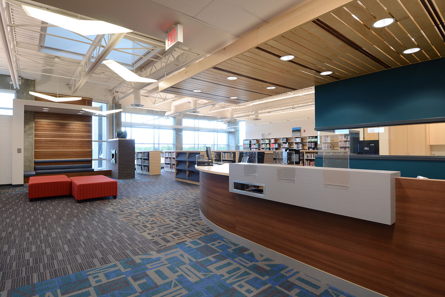 Library by Winnipeg architectural photographer