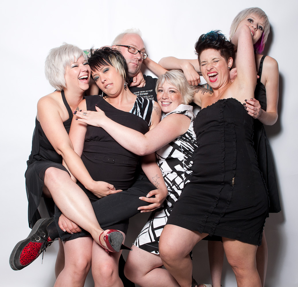 Party group by Winnipeg editorial photographer