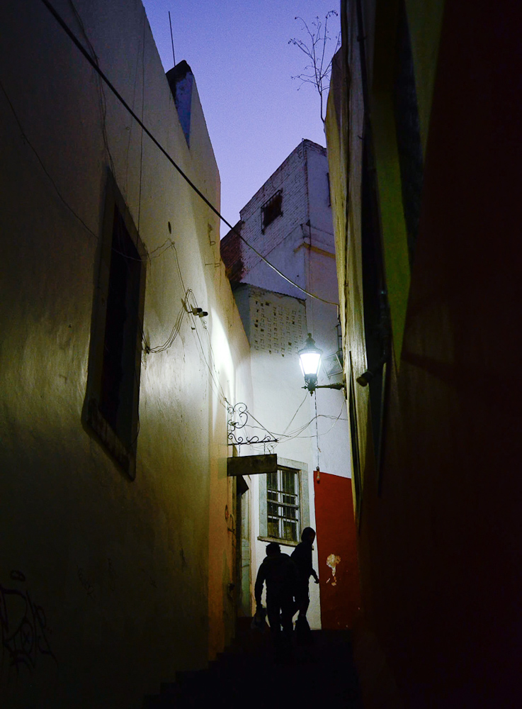 Dark alley by Winnipeg travel photographer