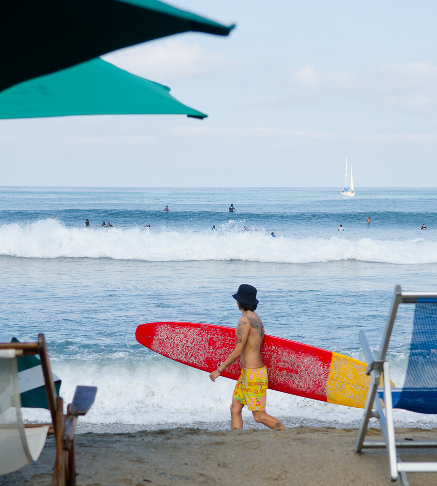 Sayulita surfer by Winnipeg travel photographer