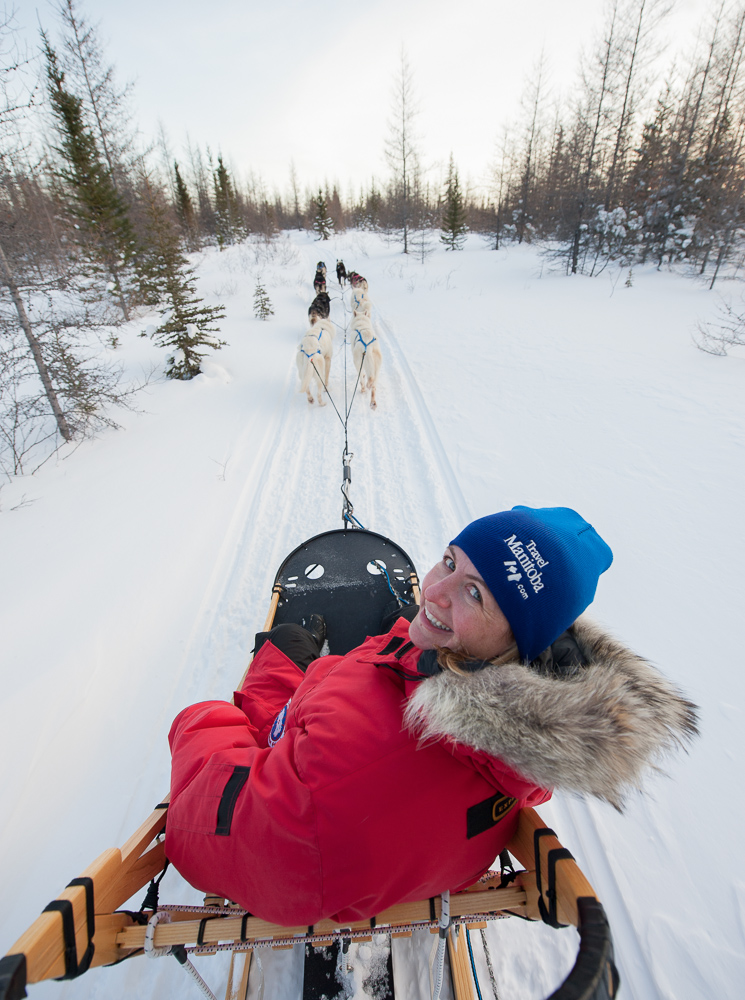 Dogsledding by Winnipeg commercial photographer