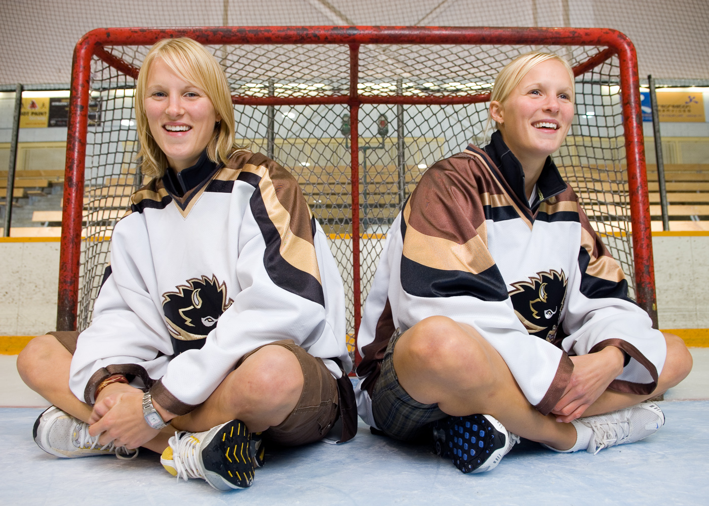 Hockey twins  by Winnipeg editorial photographer