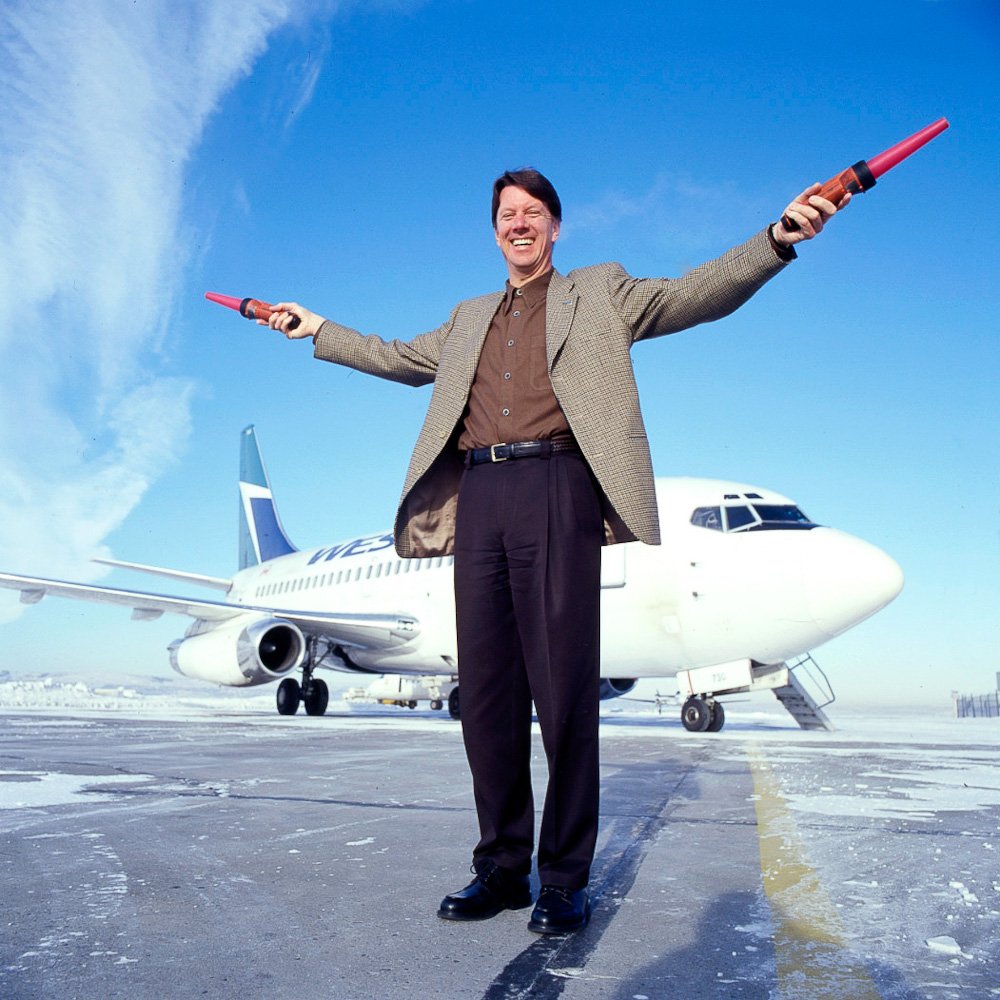 Westjet CEO by winnipeg editorial photographer